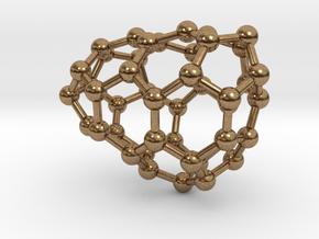0637 Fullerene c44-9 c1 in Natural Brass