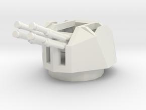 1/72 Semovente M15/42 Contraereo turret in White Strong & Flexible