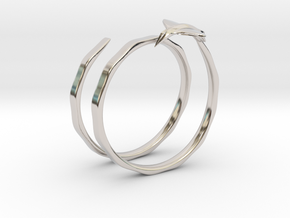 Traveler Ring in Rhodium Plated Brass: 6.75 / 53.375