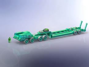MAZ 543 Tank Transporter 1/144 in Smooth Fine Detail Plastic
