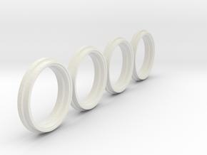 Felgenringe weise toys MB Trac  siku MF Reifen in White Natural Versatile Plastic