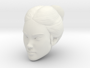 Female head in White Natural Versatile Plastic
