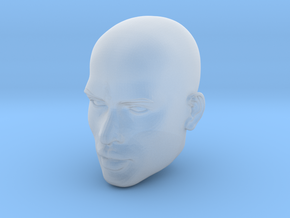 Male head in Smooth Fine Detail Plastic