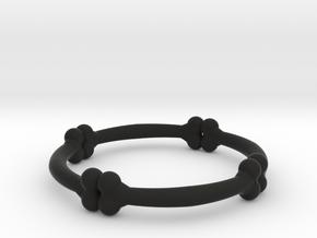 bone ring  in Black Natural Versatile Plastic: 6 / 51.5