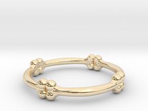 bone ring  in 14K Yellow Gold: 6 / 51.5