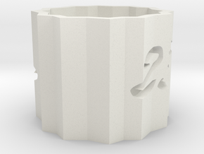 Legend No. 23rd Vase in White Natural Versatile Plastic: Medium