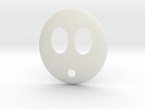 Shy Guy Mask in White Natural Versatile Plastic