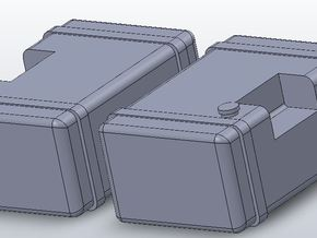 1/64 scale Frame Mounted Fuel Tanks in White Natural Versatile Plastic