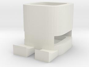 Box 4 in White Natural Versatile Plastic
