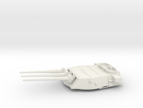 1/192 BB59 16 in (410 mm)/45 caliber Mark 6 gun 2 in White Natural Versatile Plastic