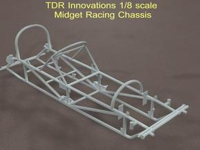1/8 Midget Chassis in White Strong & Flexible