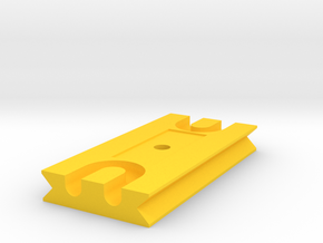 Tetherplate 80mm for DSLR camera's in Yellow Processed Versatile Plastic