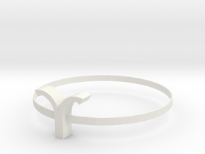 Aries necklace in White Natural Versatile Plastic