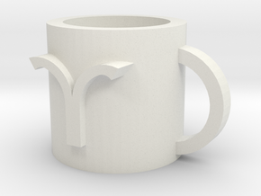 Aries cup in White Natural Versatile Plastic