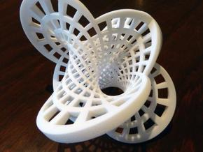 Round Klein Bottle in White Strong & Flexible