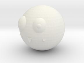 Ball 球 in White Natural Versatile Plastic