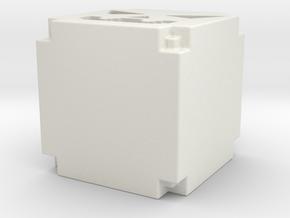 pixel pumpkin lantern in White Natural Versatile Plastic: Medium