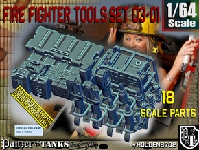 1/64 FireFighter Tools Set03-01 in Smooth Fine Detail Plastic