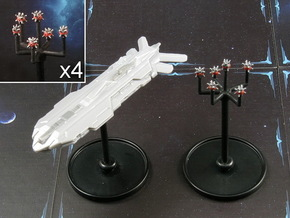 Space mine fields (4 pcs) in Smooth Fine Detail Plastic