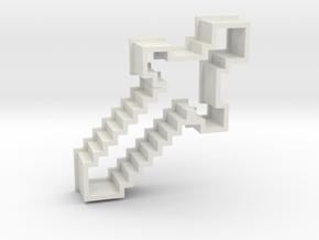 MinecraftSword in White Natural Versatile Plastic