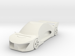 Super sports car in White Natural Versatile Plastic
