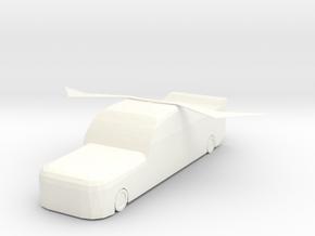 Flying small steel gun in White Processed Versatile Plastic