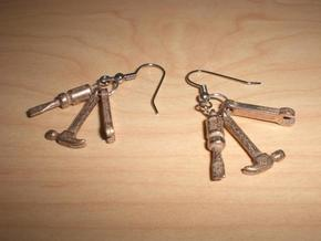 Tool Charms in Polished Bronzed Silver Steel