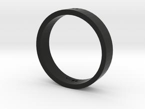 2 in Black Natural Versatile Plastic: Medium