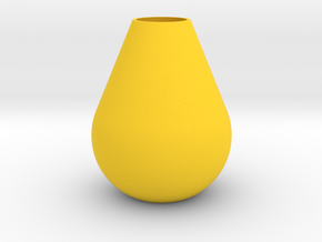 Teardrop Vase in Yellow Processed Versatile Plastic