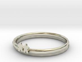 Sisters bracelets.stl in 14k White Gold