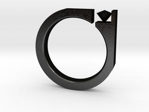 Digi Ring in Matte Black Steel
