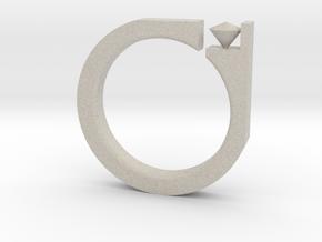 Digi Ring in Natural Sandstone