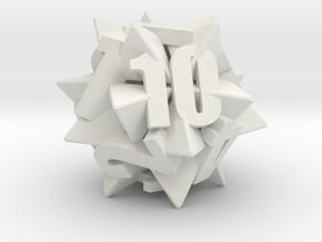 Icosatetrahedra d12 in White Premium Strong & Flexible