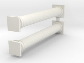 Doric Columns 3000mm hight at 1:76 scale X 2  in White Natural Versatile Plastic