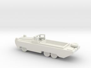 1/56 Scale DUKW in White Natural Versatile Plastic