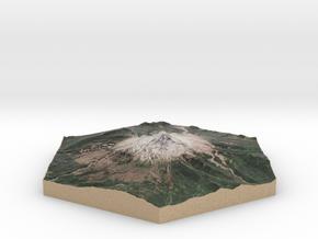 Model of Mt. Hood, OR (10cm, Full-Color) in Full Color Sandstone
