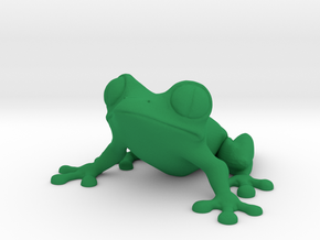 frog in Green Processed Versatile Plastic