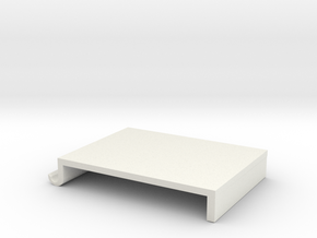 Screen table shelves in White Natural Versatile Plastic