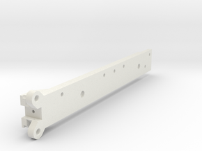 LowBoyRearFlipMainRailRight in White Natural Versatile Plastic