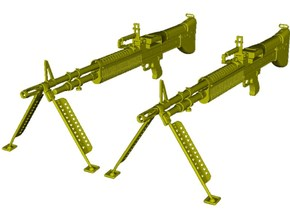 1/24 scale Saco Defense M-60 machineguns x 2 in Smooth Fine Detail Plastic