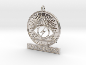 I OF THE STORM Pendant in Rhodium Plated Brass