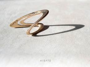 Loop Ring size US5.5 in 18k Gold Plated Brass