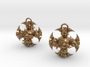 IF Kleinian Earrings in Natural Brass