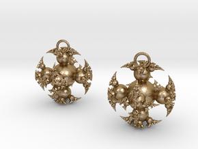 IF Kleinian Earrings in Polished Gold Steel