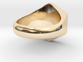 Lotus Ring in 14k Gold Plated Brass: 5 / 49