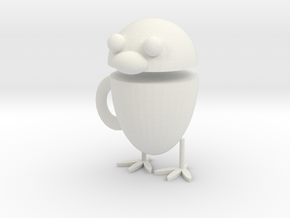 Chicken cup in White Natural Versatile Plastic