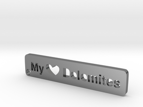 MyTinyDolomites - Key holder in Polished Silver