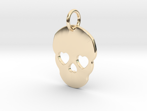 Cute Skull in 14k Gold Plated Brass