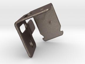 Blind Bracket Kirsch Medallion Left  in Polished Bronzed Silver Steel