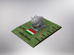1/72nd (20 mm) scale Hungarian 18M Mine (4 pieces) in Smooth Fine Detail Plastic